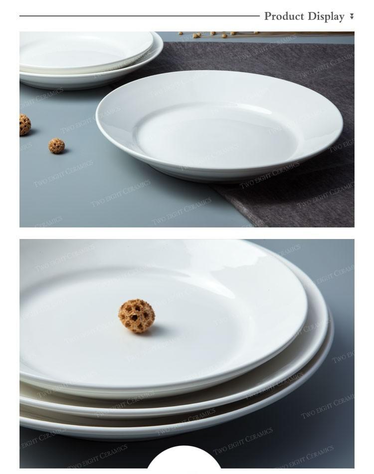 Wholesale Western Style Dinner Plates Set, High Quality Ceramic Restaurant Plate Set