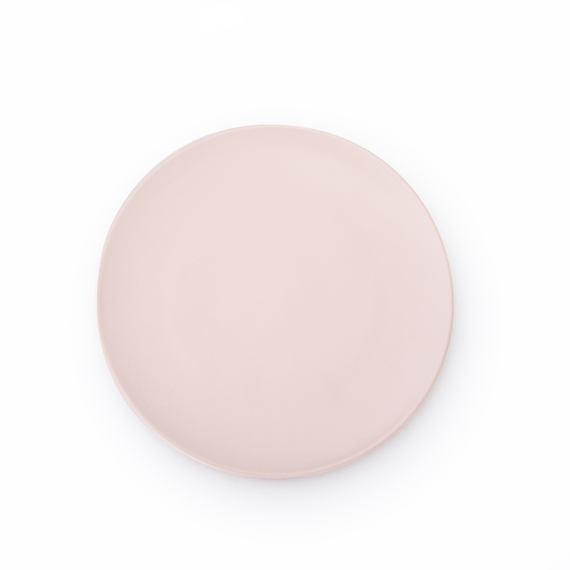 Wholesale Porcelain Matt Pink Hotel Round Eco Dinner Platter, Dinner Plates Unique%