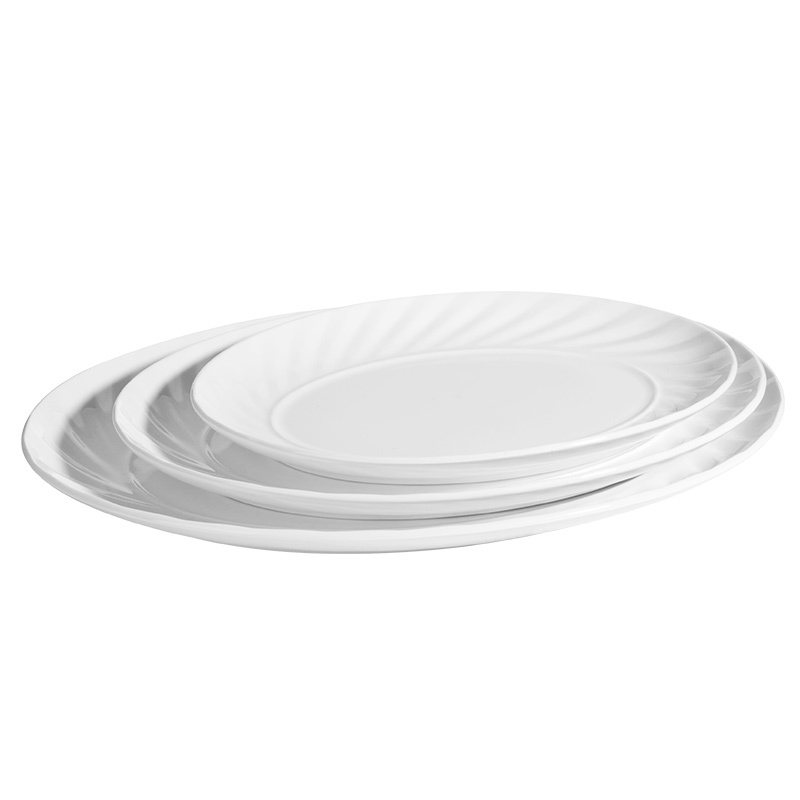 Catering 12 Inch Plates Restaurant Hotel White Porcelain Dinnerware Serving Dishes
