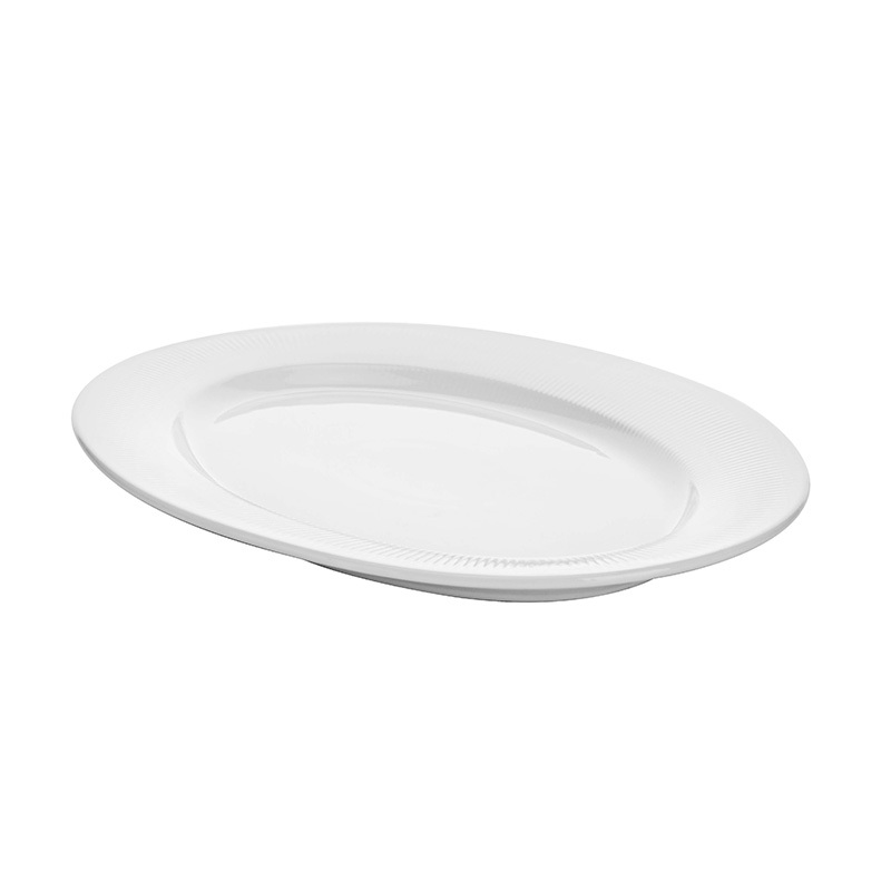 Hot Selling Banquet Dinnerware Oval Dinner Plates, Party & Event Cafe Hotel Brand Dishes Oval Ceramic Fish Plate@