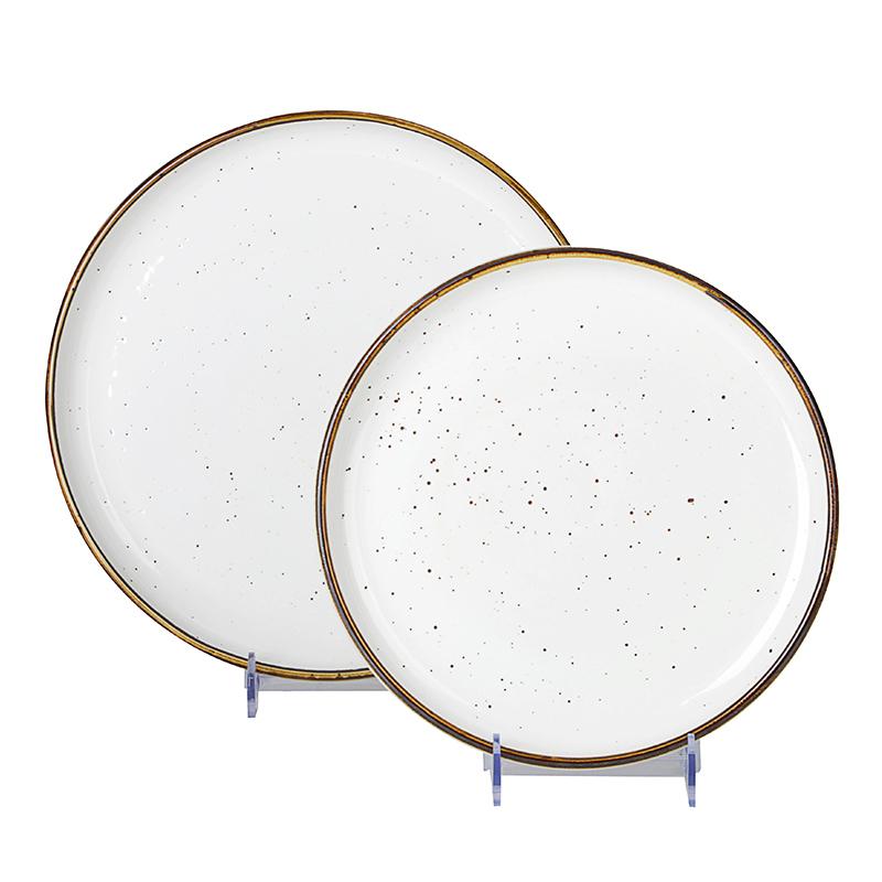 28ceramics Hotel Dinnerware 8/10/12 Inch Plate Set, 28ceramics Dinner Set 8/10/12 Inch Dinnerware Dinner Plates*