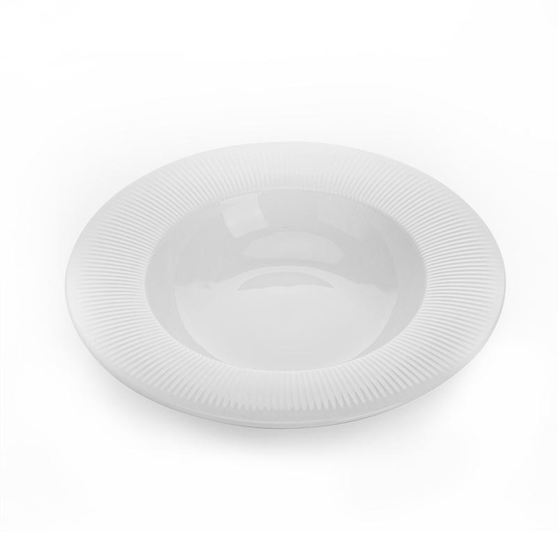 New Product Ideas 2019 Innovative for Hotels Marriott chinaware Restaurant Tableware Soup Plate, Plat De Service En Verre@