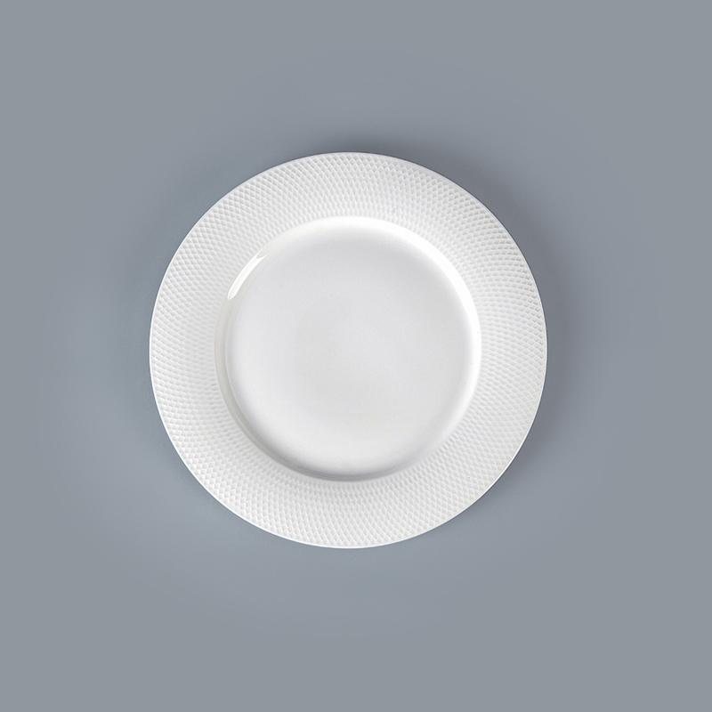 28 Dinnerware Wholesale Dinner Plates, China Design Plates Restaurant, Grid Disk White Porcelain