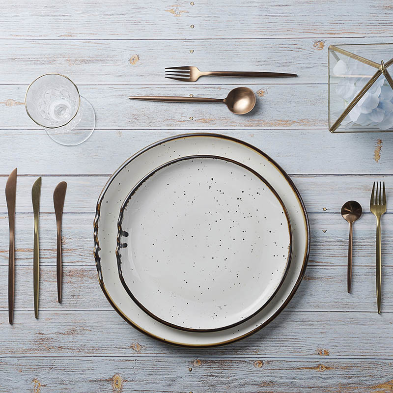28ceramics Chinese Restaurant Dinnerware Rustic 8/10/12 Inch Salad Plate, 28ceramics Dinnerware Sets Ceramic Dinner Plates&