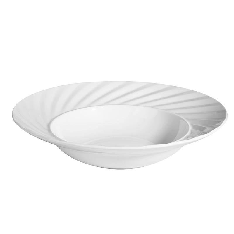 Restaurant Fruit Salad Plate 8.75 inch Dessert Plate Porcelain, Cheap White Porcelain Dessert Plates^