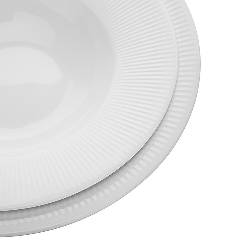Horeca Ceramic Tableware Of Porcelain Dinnerware Sets Cutlery Set,Hotel Crockery Dinning Plates Sets Pasta Bowl>