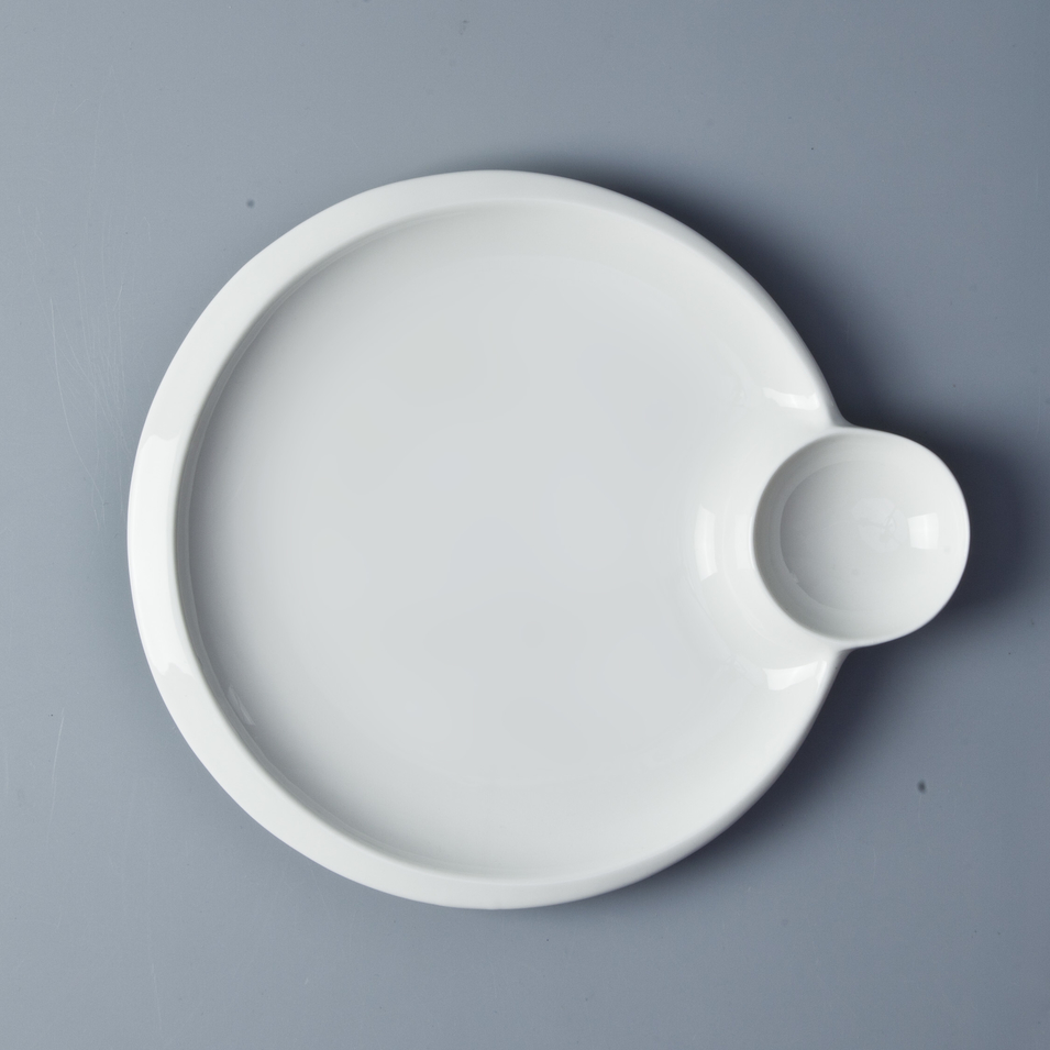 2019 Wholesale White Ceramic Dinner Plate, Hotel Use Serving Plate With Saucer/