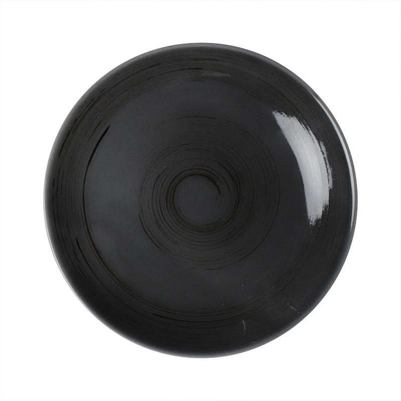 28ceramics Black Dinnerware Ceramic Serving Plate, 28ceramics Banquet Hall Crockery Dinnerware 4 Colors Ceramic Plate*