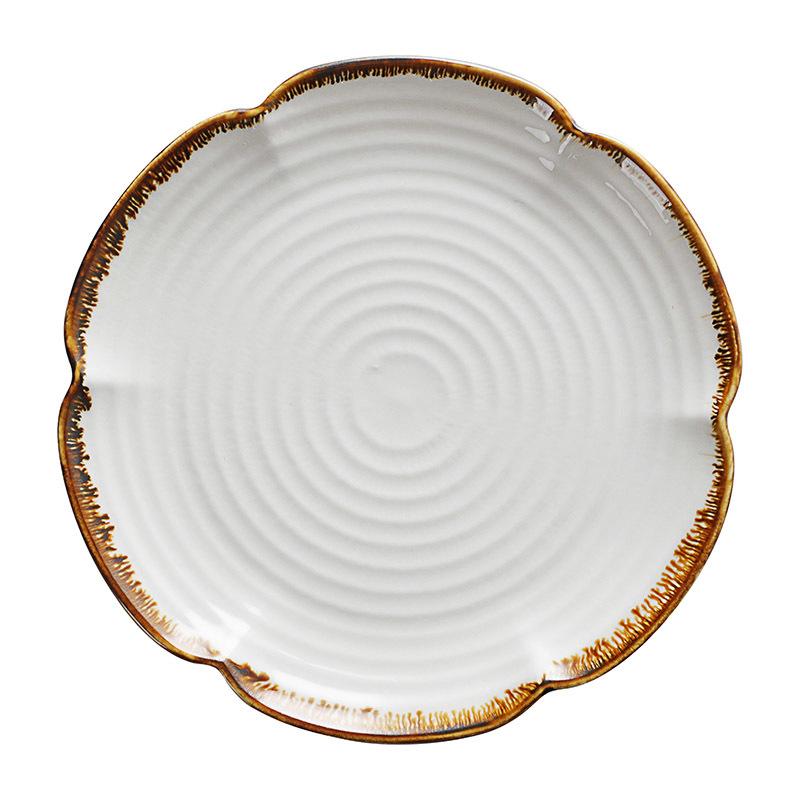 Dishwasher Safe Dishes Restaurant Aluminum Dishware, Plates Hotel Ceramic, Ceramic Plates White Wedding/