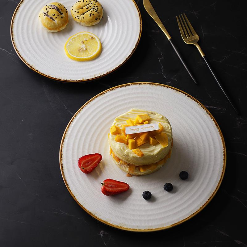 Catering Supplies White Ceramic Dishware White, White Barbecue Grill Plato Porcelana, Horeca Persian Serving Dishes/