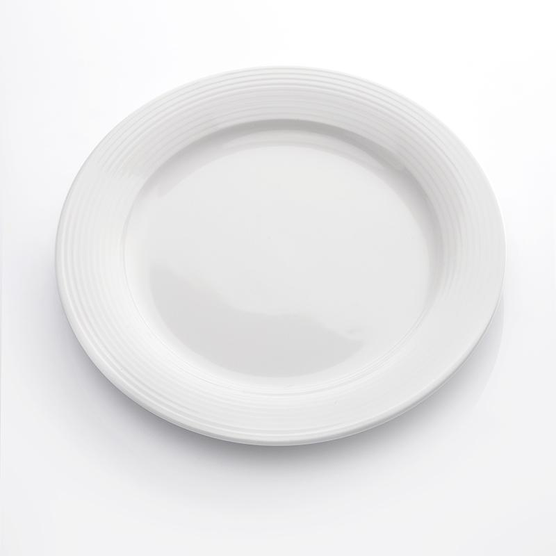 Wholesale High Quality Restaurant Tableware Plate Logo, Ecofriendly Heat Resistant Bar Hotel Use Dinner Plates*