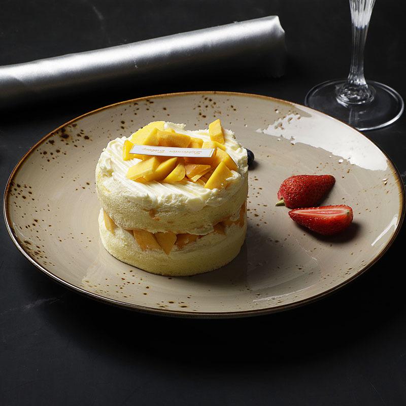 28ceramics Rustic Slate Tableware Plate Dish Platter, 28ceramics Rustic Hotel Ceramic Tableware 8.25/10.5 Inch Dessert Dish~