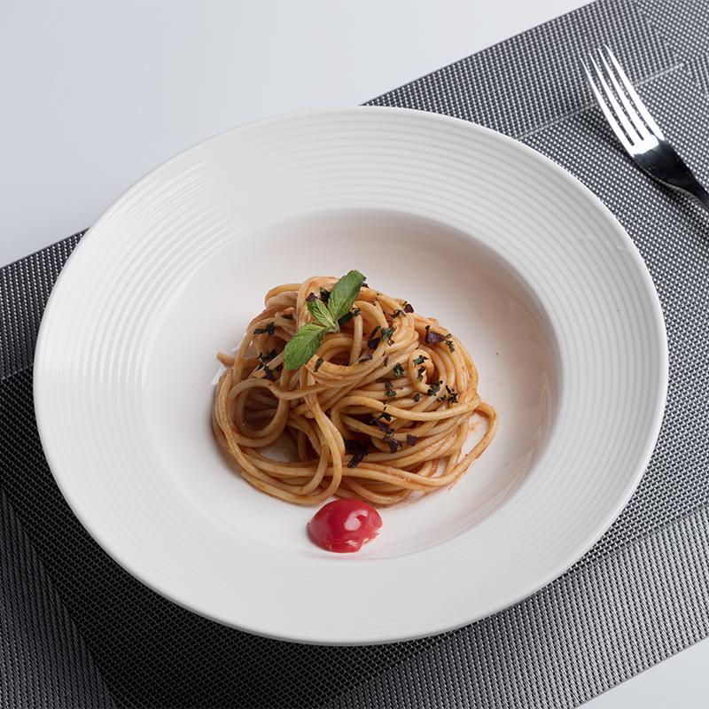 Nordic Vajilla Soup Plate Scratch Proof Wedding Plates Sets, Buffet Pasta Dinnerware Restaurant, Durable Club Modern Plates>