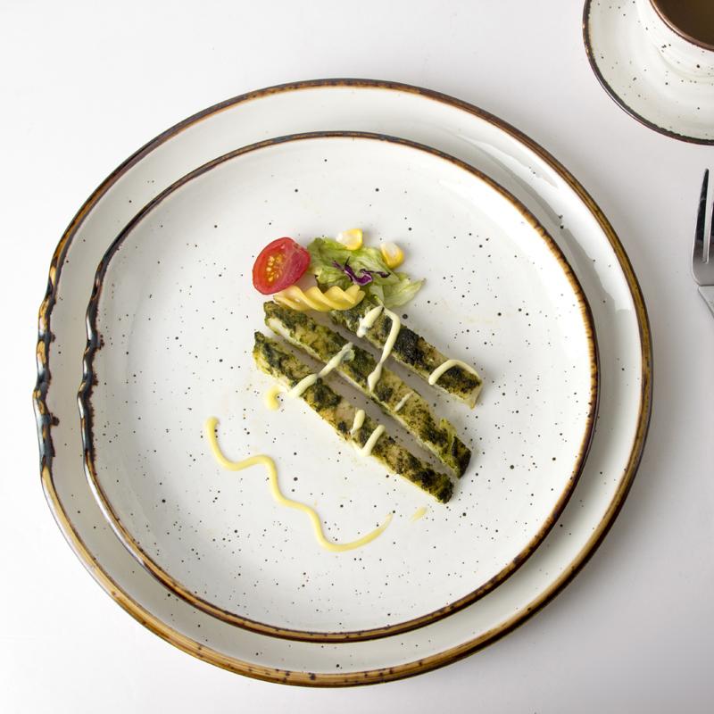 28ceramics Banquet Hall Crockery Dinnerware Ceramic Serving Plate, 8/10/12 Inch Sets Dinnerware Dinner Plate Restaurant*