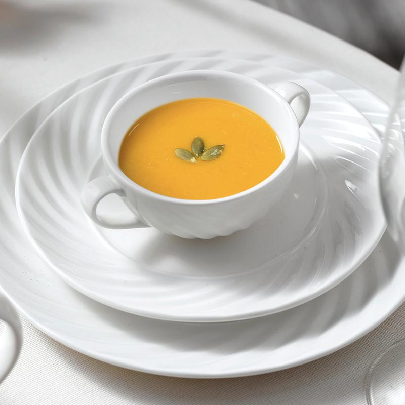Cheap Wholesale Prices On Porcelain Plates, Restaurant Supplies Porcelain Dinnerware Set, Ceramic Tableware*
