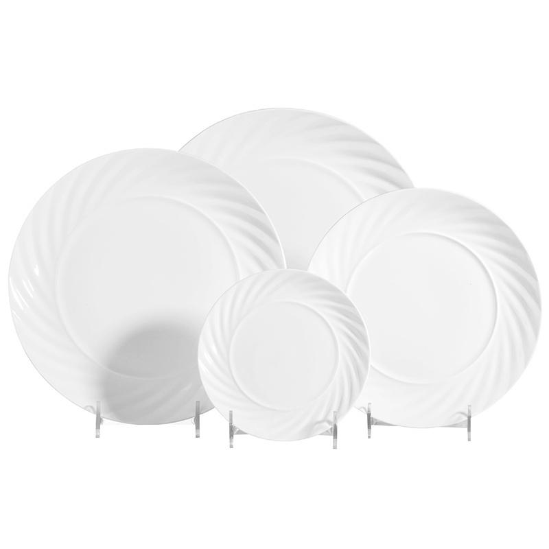 6-12inch Hotel Used Dinner Plates, Horeca Standard Dinner Plate Size, White Round Porcelain Dinner Plate