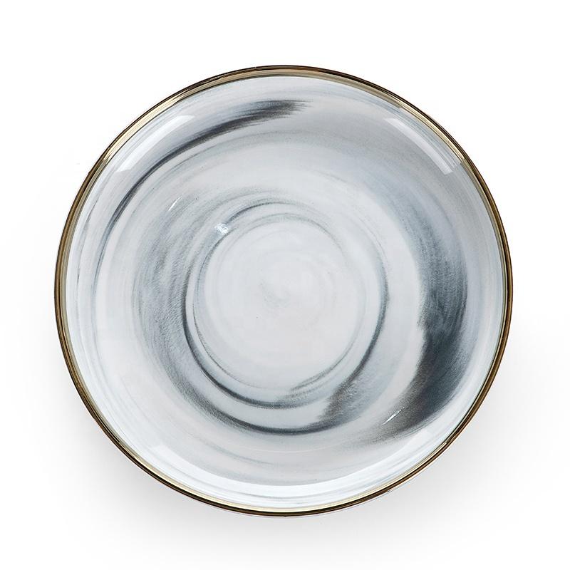 Modern Crockery Tableware Restaurant Plates, Best Selling Products Porcelain Wedding Plates Sets Dinnerware Marble Plate~