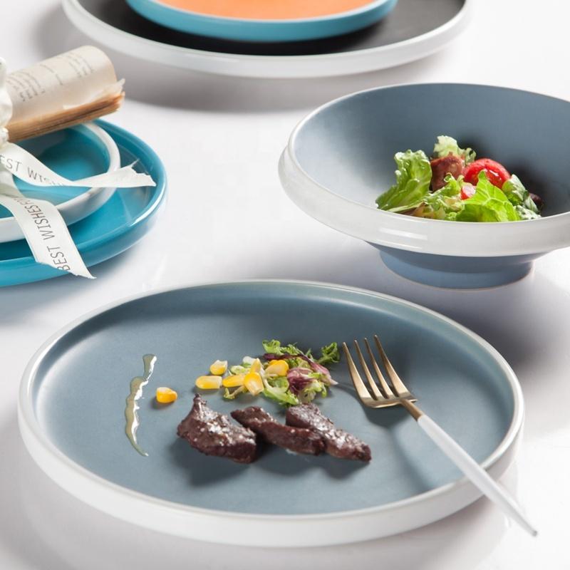 Hot Sales Ceramic Tableware Strong Glazed Restaurant Plates, Crockery Tableware Hotel Brand Dish Popular Ceramic Plates^