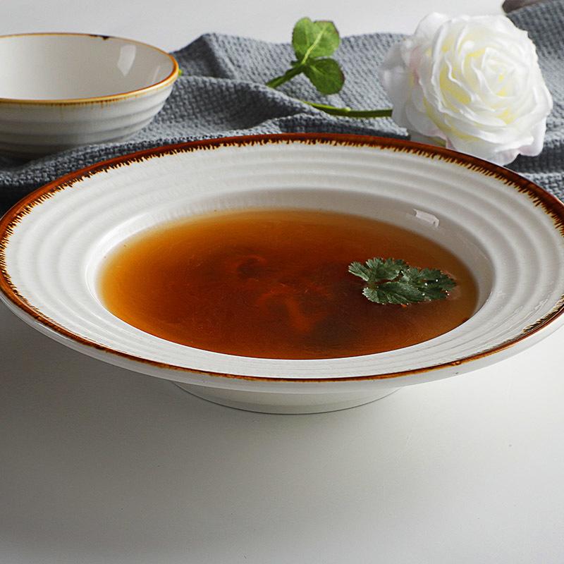 New Amazing DesignElegance Soup Plate Restaurant White Porcelain Factory Price Dinnerware Plate Porcelain/