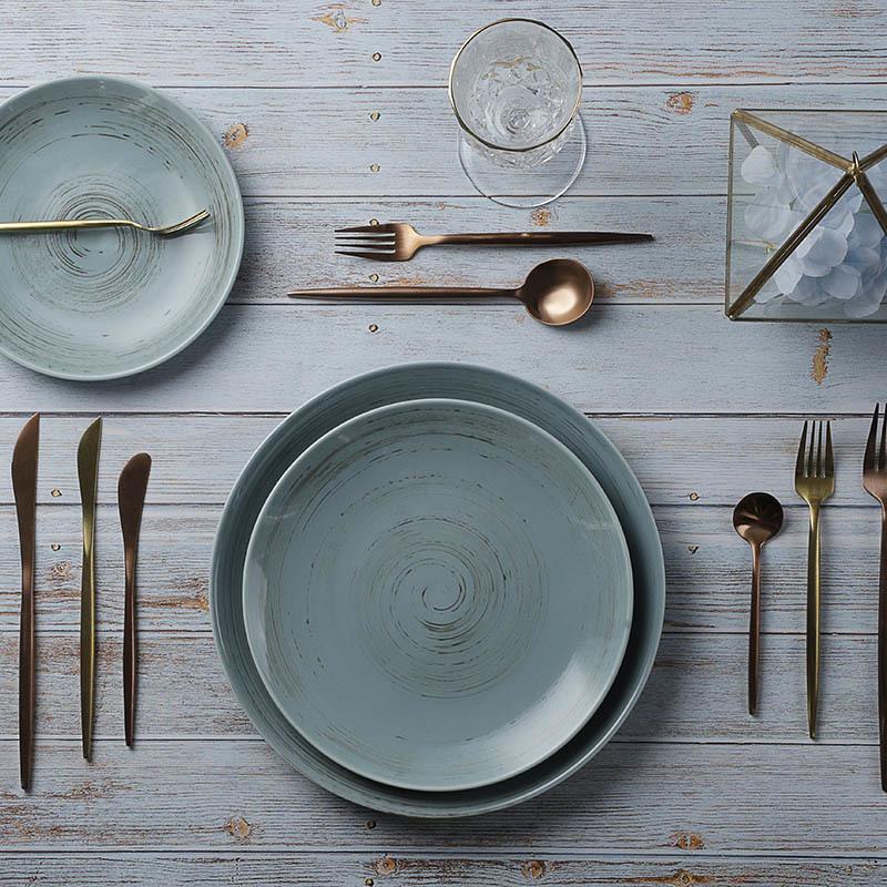 28ceramics Porcelain Tableware Plates Sets Dinnerware Ceramic, 7/9/11 Inch Round Ceramic Plate, High Quality Ceramic Plates&