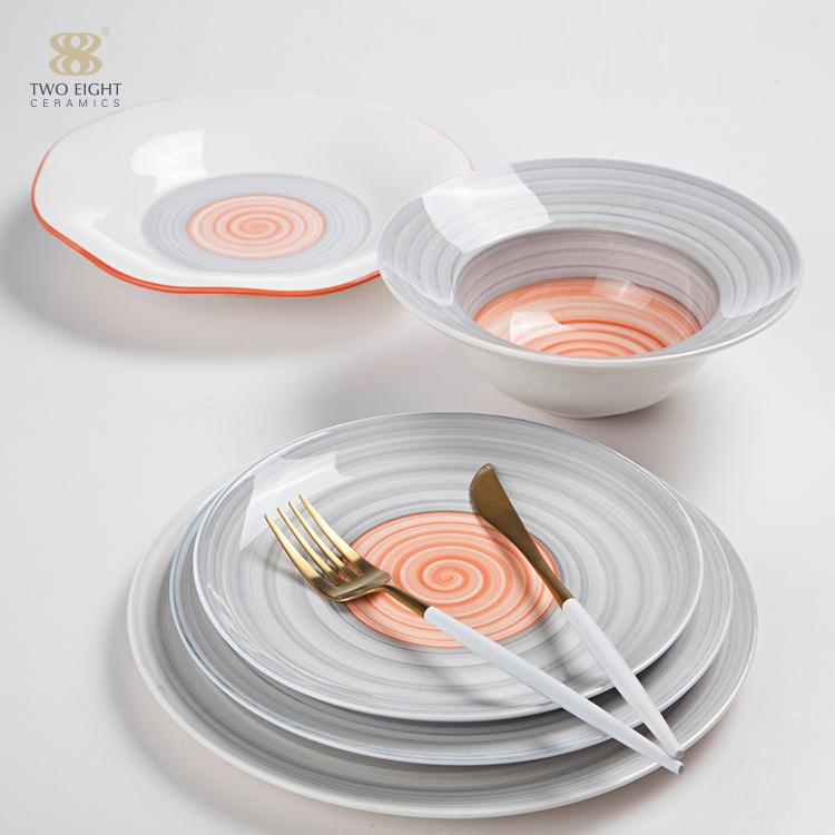 dinner plate color ceramic pasta plate restaurant