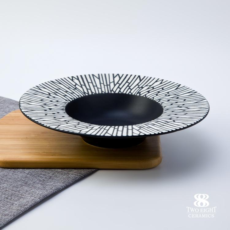 Wholesale jingdezhen porcelain decorative plate, soup plate ceramic