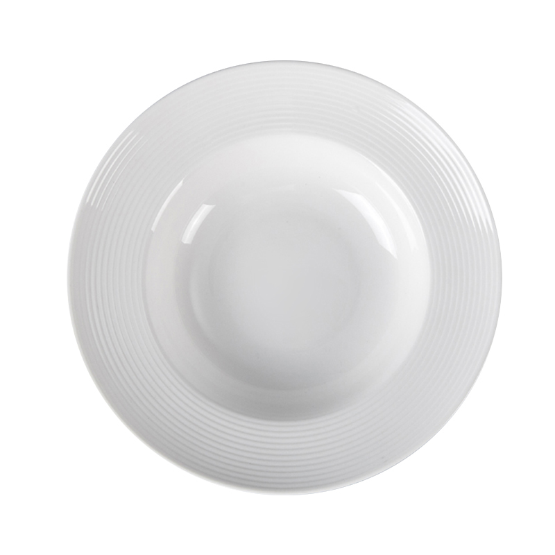 Wedding Crokery Appetizer Plate, High Temperature Cafe Serving Dishes Sets Pasta Plate, Moden Tableware White Plate Huairen^