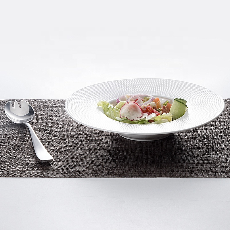 New Product Ideas 2019 Innovative for Hotels Gourmet 10 inch Pasta Plates 12 inch Two Eight Grid Design Ceramic Dinner Plates&