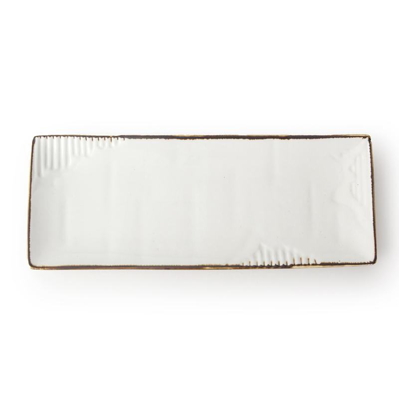 Factory Direct Wholesale Crokery Restaurant Rectangle Shape Plate, Ceramic Material Dinnerware Glazed Porcelain Rectangle Plate/