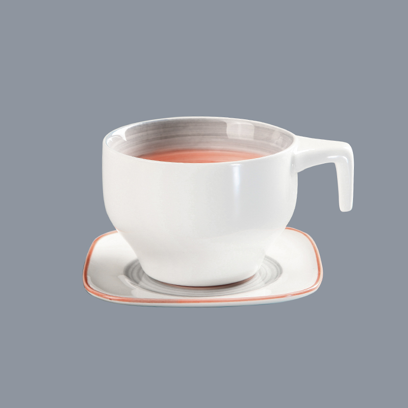 luxury soup and sandwich plate porcelain dinner plate for wedding