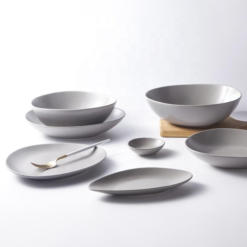 Eco-friendly Porcelain Banquet Irregular Tableware Plate, Unique Design Dinner Plate Restaurant*