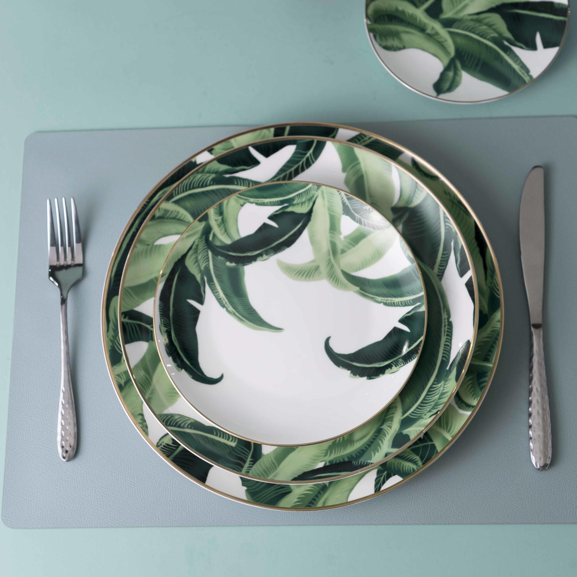 New Design Products Luxury Restaurants Decal Bone China Dinner Plate, Hotel Tableware Supplierd^