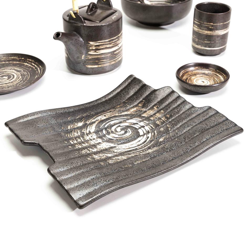 Fancy Tableware Turkish Ceramic Plate, Crockery Sets Dinnerware, Unique Shape Dinner Plate*