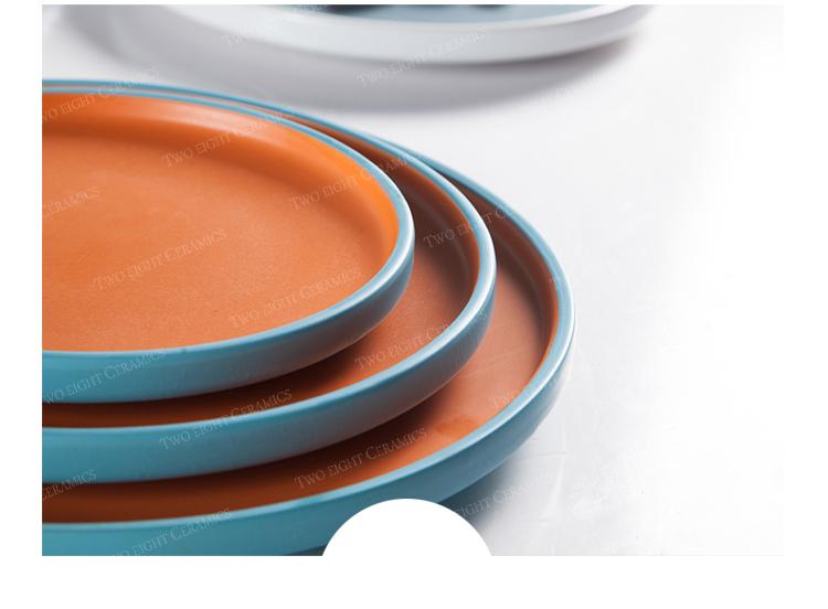 2019 Amazon Top Seller Platos de Porcelana para Restaurante, Colored Ceramic Plate, Nordic Style Matte Colored Wedding^