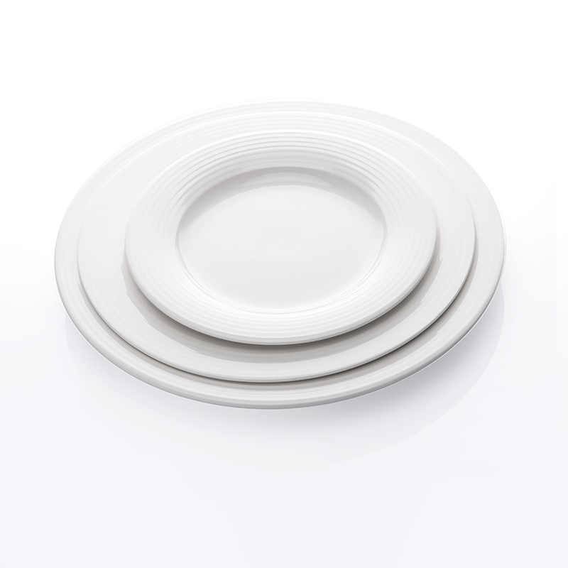 Wholesale Scratch Proof Set Of Ceramic Plates, Plain Ceramic Party Plate, Chaozhou Factory Round White Plain Plate&