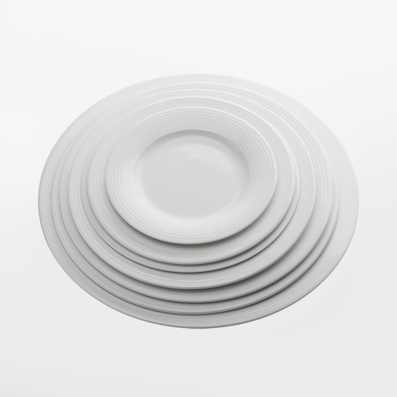 Best Selling Products High Temperature Cafe Dinning Plate, Best Selling Products Durable Crockery Flat Plate White%