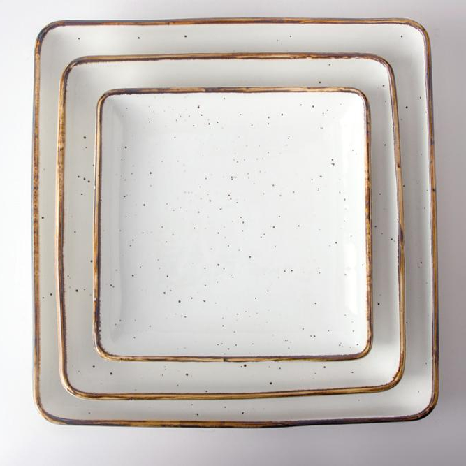 Wholesale Ceramic Dinnerware Dishes, Hot sale Functional Long-lasting Dining Stylish Porcelain Casual Service Square Plate/