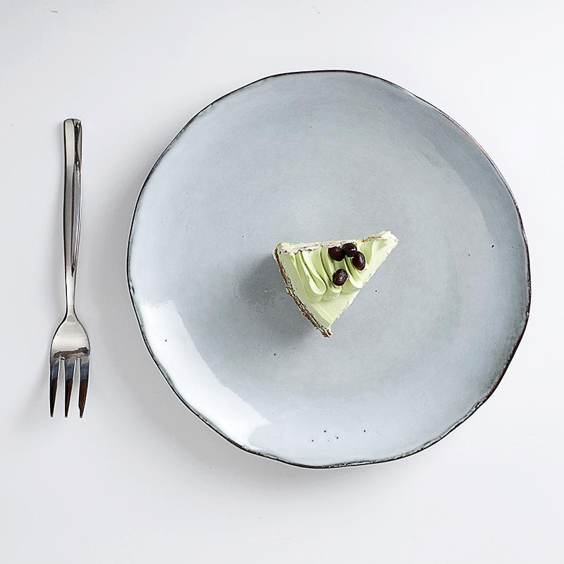 Used Restaurant Dish Washer Safe Dinnerware Plate Set Color Ceramic, ColorPlate Porcelain,Green Rustic Wedding Plates Set/