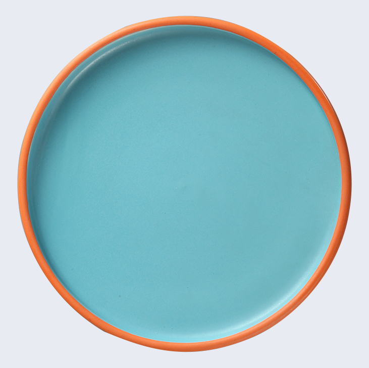 Horeca Wholesale China Dishes, Event Party Color Plate, Blue Porcelain Dishes For Restaurant*