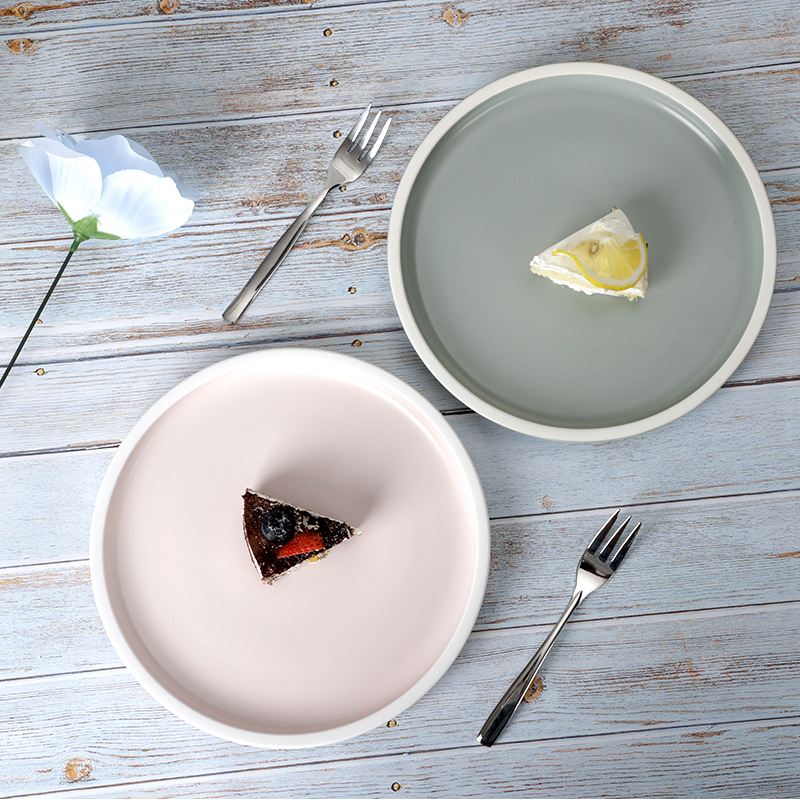 28ceramics Tableware Restaurant 7/8/9/10 Inch Dishes Plates Ceramic, 4 Colors Hotel Ceramic Tableware Plate Restaurant Ceramic*
