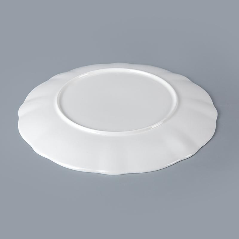 Bone China Porcelain Hotel Restaurant Crockery Tableware Platter, Bone China Porcelain Porcelain Serving Platter^