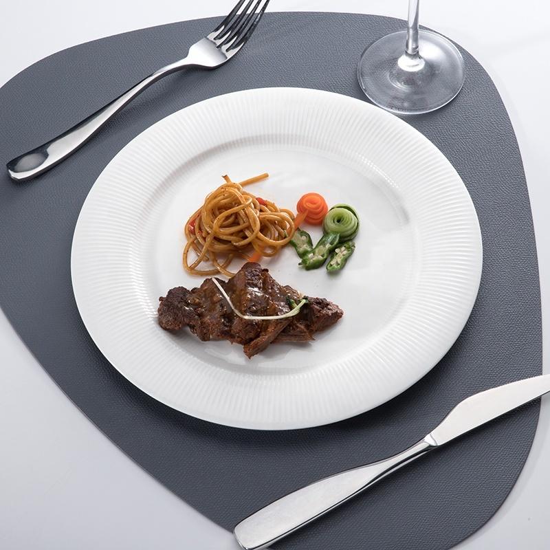 Outdoor lifestyle Hotel Gourmet Beauty Dish, Flat Rim Plate, Restaurant Flat Round Plate*