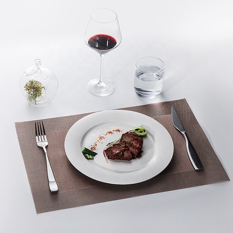 New Product Ideas 2019 Innovative for Hotels Lifestyle porcelain Tableware Table, Grid Style China Porcelain Dinnerware Plate&