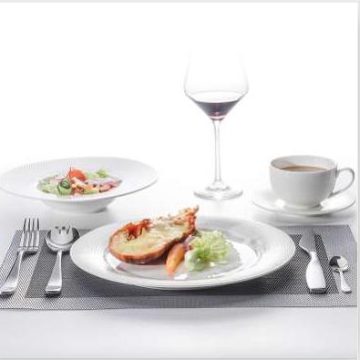 Wholesale High Quality Restaurant Tableware Plates Restaurant Dinner Two Eight Grid Design Crockery Tableware Soup Plate%