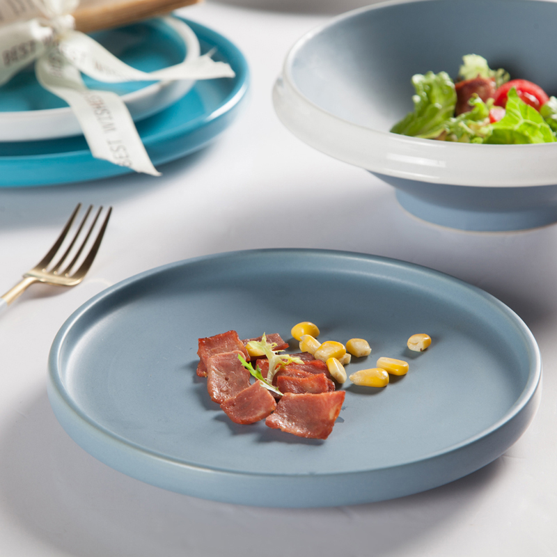 Colorful Dinnerware Sets, Banquet Hall Restaurant Dinner Ceramic Plates, Colored Dinner Plates^