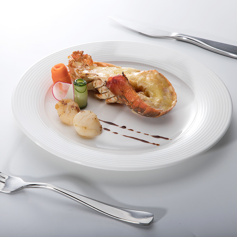 Catering Plates for Restaurant 10 Inch Ceramic Plate Printing
