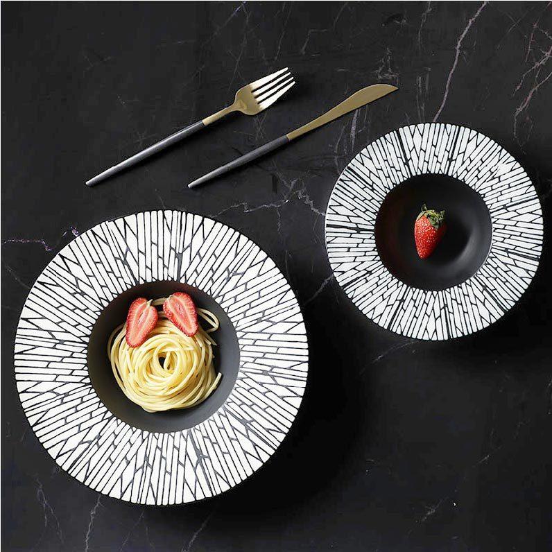 Wholesale Chaozhou CeramicDinnerware Sets Black Pasta Bowls, Noodle Bowl Ceramic Black, Matte Glazed Black Bowl&