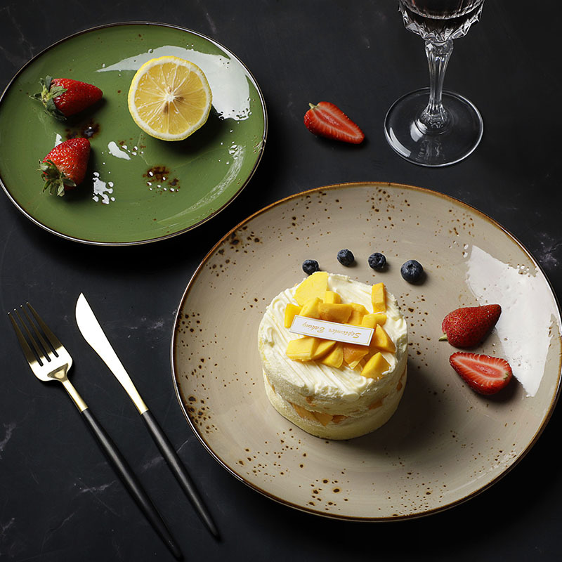 Hot Sale 8.25/10.25 Inch Ceramic Dishes Plates Restaurant Plates Sets Dinnerware