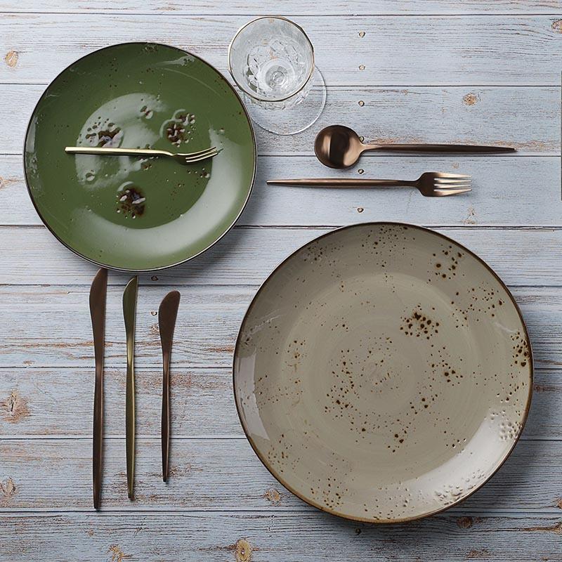 28ceramics Rustic Guangzhou Tableware 8.25/10.5 Inch Dinner Plates Used In Wedding, Modern Tableware Cater Plate~