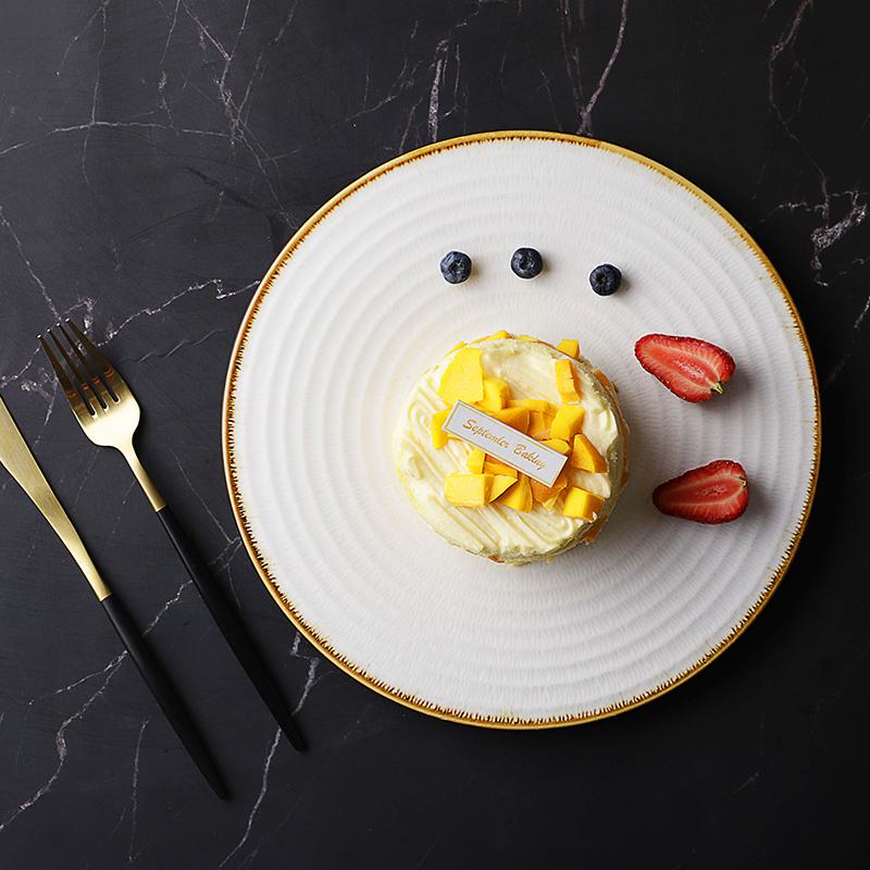Thailand Hotel Supplies Wedding Supplies Chafing Dish Banquet Dinnerware Set Round Plate Ceramic White Dinner Plate Set*